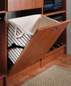 Tilt Out Wire Laundry Hamper (shown With Optional Cloth Liner)