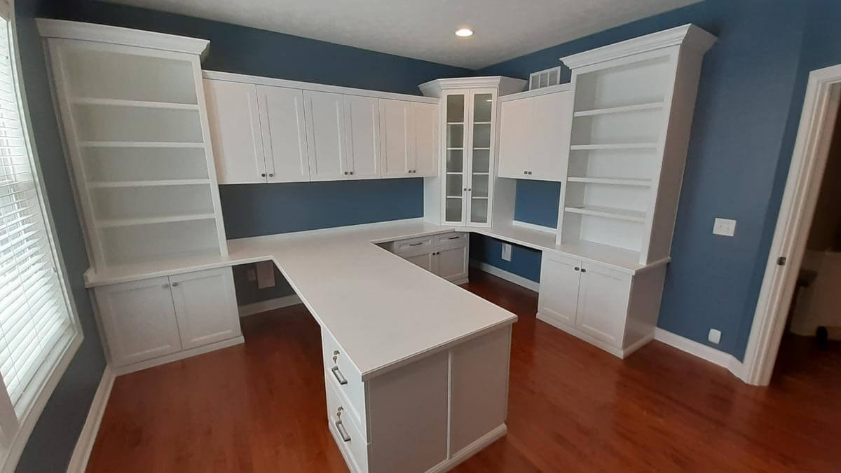Custom Home Office Indianapolis 1