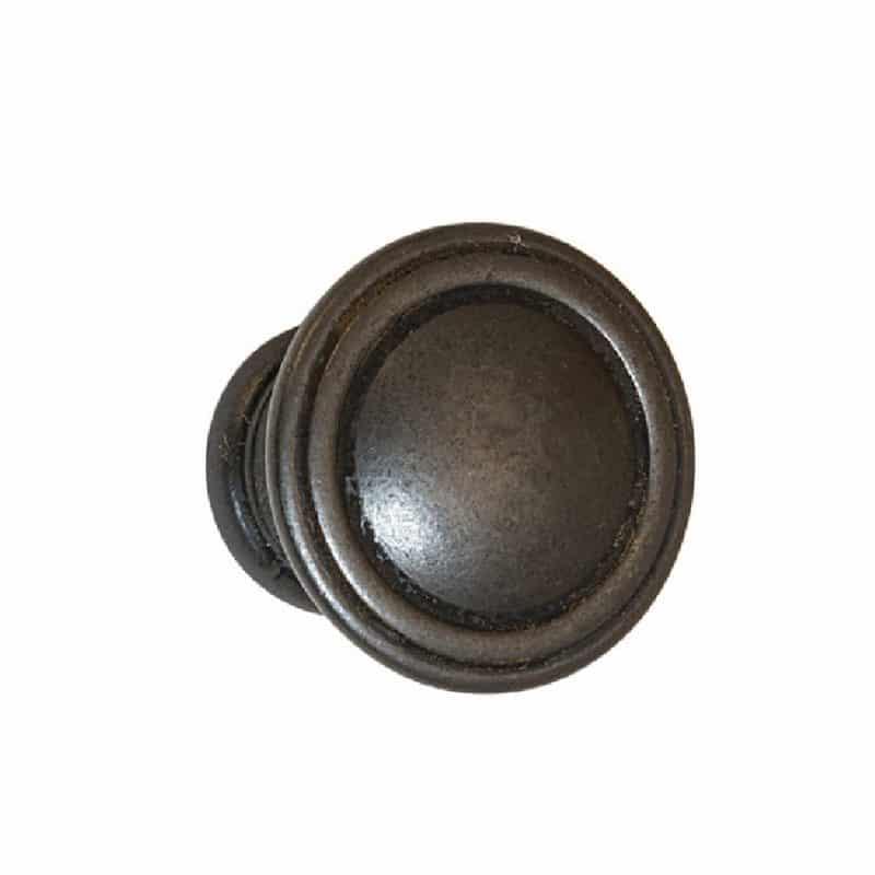 Keystone Collection Round Knobs Antique Black, Oil Rubbed Bronze, Satin Pewter, Antique Satin Brass, Satin Nickel (1)