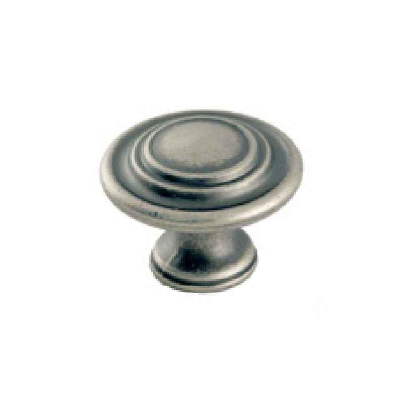Select Collection Tiered Round Knob Weathered Nickel, Oil Rubbed Bronze, Satin Nickel (1)